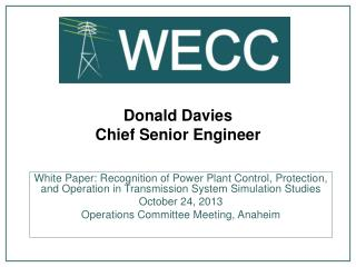 Donald Davies Chief Senior Engineer