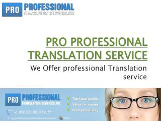 PRO PROFESSIONAL TRANSLATION SERVICE