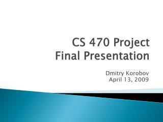 CS 470 Project Final Presentation