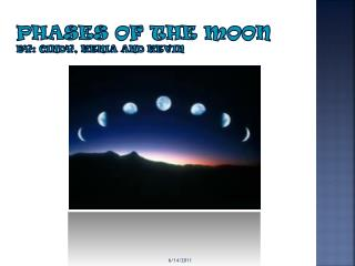 Phases of the Moon By: Cindy, Kenia and Kevin