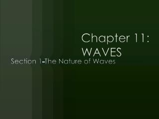 Chapter 11: WAVES