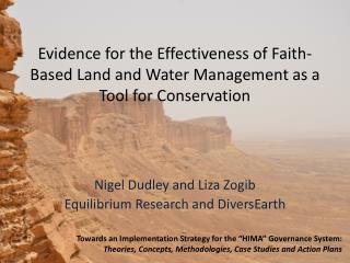 Evidence for the Effectiveness of Faith-Based Land and Water Management as a Tool for Conservation