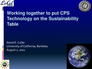Working together to put CPS Technology on the Sustainability Table