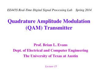 Quadrature Amplitude Modulation QAM Transmitter