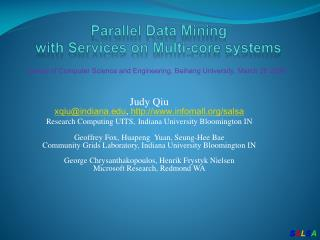 Parallel  Data Mining  with Services on Multi-core systems