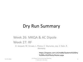 Dry Run Summary