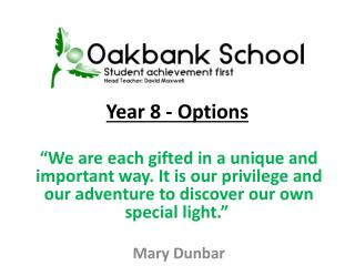 Year 8 - Options