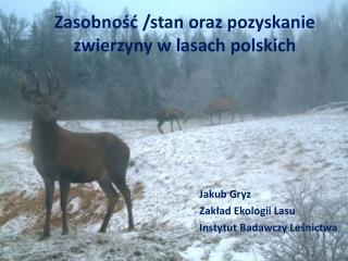 Zasobność /stan oraz pozyskanie zwierzyny w lasach polskich