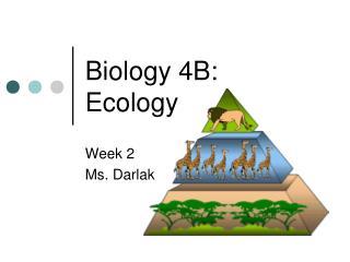 Biology  4B: Ecology