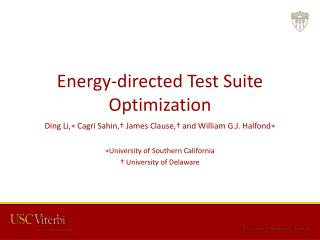 Energy-directed Test Suite Optimization