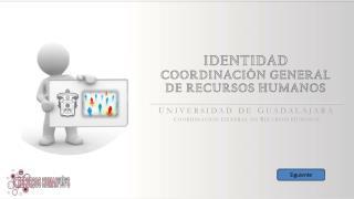 IDENTIDAD COORDINACIÓN GENERAL DE RECURSOS HUMANOS