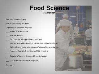 Food Science Jennifer Holt