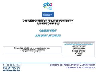 Dirección General de Recursos Materiales y Servicios Generales