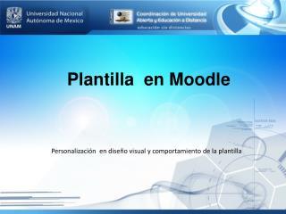 Plantilla  en  Moodle