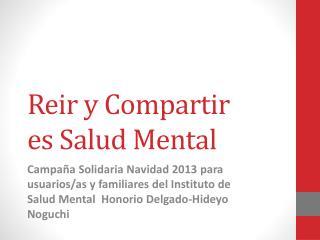 Reir  y Compartir  es Salud Mental