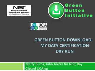 Green Button Download My Data Certification Dry Run