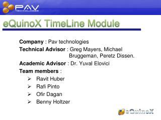 eQuinoX TimeLine Module