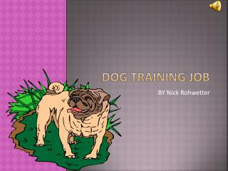 Dog training job