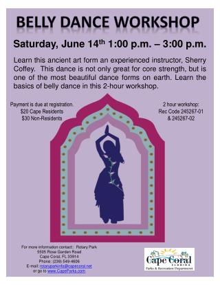 Saturday, June 14 th  1:00 p.m. – 3:00 p.m.