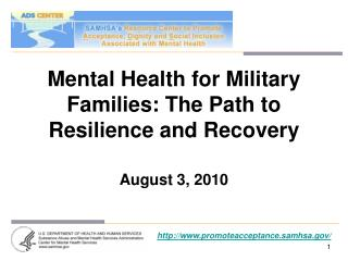 Mental Health for Military Families: The Path to Resilience and Recovery