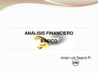 AN�LISIS FINANCIERO B�SICO