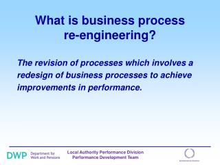 What is business process  re-engineering