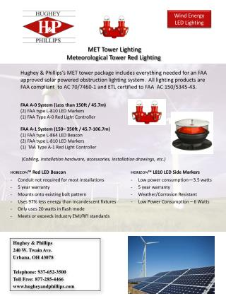 MET  Tower Lighting Meteorological Tower Red Lighting