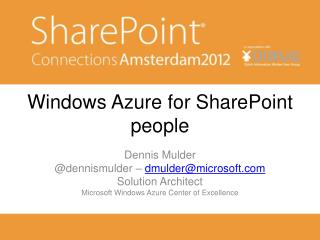Windows Azure for SharePoint people