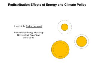 Redistribution  Effects of  Energy and Climate  Policy