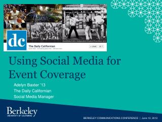 Using Social Media for Event Coverage