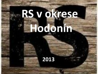 RS v okrese  Hodonín