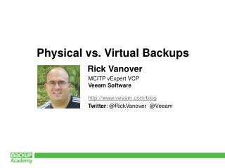 veeam/blog Twitter : @ RickVanover   @ Veeam