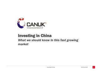 Investing in China What we should know in this fast growing market