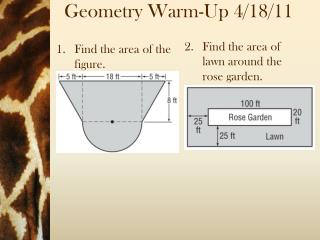Geometry  Warm-Up 4/18/11