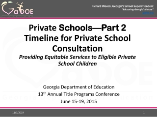 Benefits for Private School Students and Teachers from Federal Education Programs