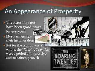 An Appearance of Prosperity