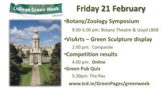 Friday 21 February