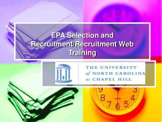 EPA Selection and Recruitment