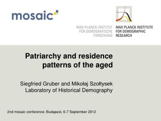 Patriarchy  and  residence patterns  of  the aged