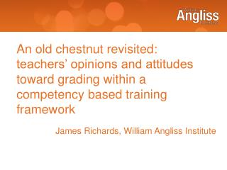 James Richards, William Angliss Institute