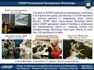 CRISP Professional Development Workshops