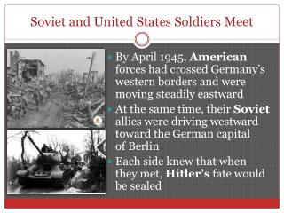 Soviet and United States Soldiers Meet