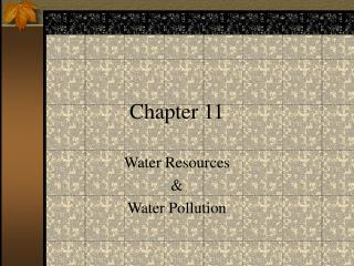 Water Resources  Water Pollution