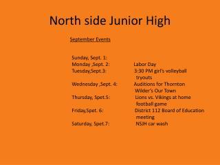 North side  J unior High