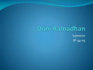 Doni Ramadhan