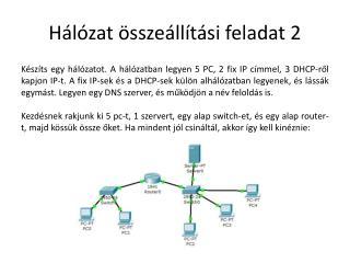 Hálózat összeállítási feladat 2
