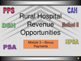 Rural Hospital Revenue Opportunities
