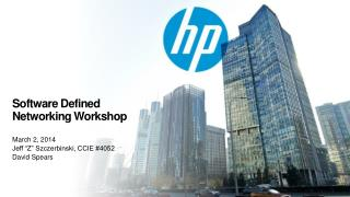 Software  Defined  Networking Workshop