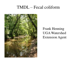 TMDL   Fecal coliform
