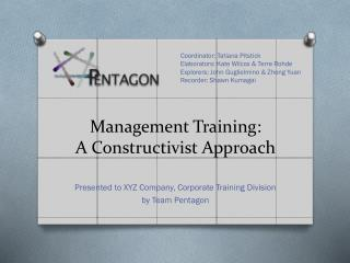 Management Training: A Constructivist Approach